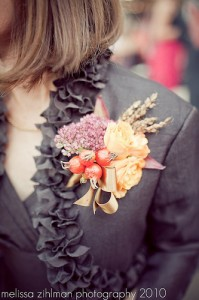 Updated, textural corsage perfect for fall! Photo courtesy of Melissa Zihlman
